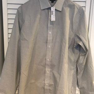 J Crew Ludlow Dress Shirt 16/34 Blue White Grid